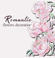 peony wedding pink floral design for vector image vector image