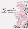 peony wedding pink floral design vector image vector image