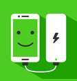 phone charging with power bank vector image