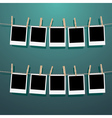 Photo Frames on Rope3 vector image vector image