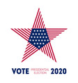 presidential election 2020 in usa election vector image vector image