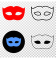 private mask eps icon with contour version vector image