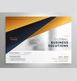 professional gold geometric brochure design vector image vector image