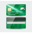 Realistic detailed credit card with abstract vector image vector image