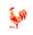 red fiery rooster symbol 2017 new year vector image