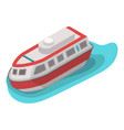 Rescue water boat icon isometric style