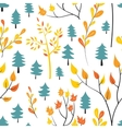 Seamless autumn forest pattern vector image vector image