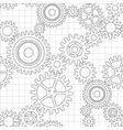 seamless pattern gear wheels vector image
