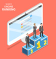 search engine ranking flat isometric vector image