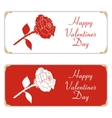 Set of two white and red horizontal banner With vector image vector image
