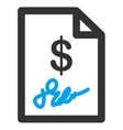 Signed Invoice Icon vector image vector image