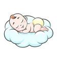 sleeping baon cloud vector image
