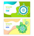 spring sale website paper cut of flower vector image vector image