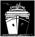 stylized ocean liner vector image vector image