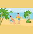 summer holiday vacation vector image