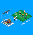 telecommunication isometric composition vector image