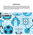travel portugal concept banner template in flat vector image vector image