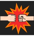 Two fists bumping together vector image vector image