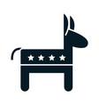 us elections republican party donkey emblem vector image