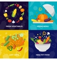 Vegetables Isolated Icon Set vector image vector image