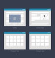 Website wireframe layouts ui kits for site map