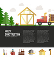 Wooden House Building vector image vector image
