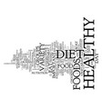 your best key to a healthy diet variety text vector image vector image
