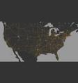 blank dark grey similar usa america map vector image