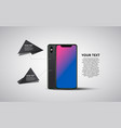 smartphone banner minimalistic vector image