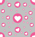 Seamless pattern white hearts in pink circle on vector image
