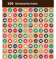 100 accessories icons vector image vector image
