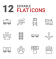 12 track icons vector image vector image