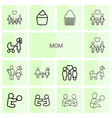 14 mom icons vector image vector image