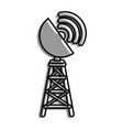 antenna icon image vector image vector image