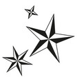 black and white christmas stars silhouette set vector image vector image