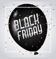 black friday marketing advertising balloon vector image