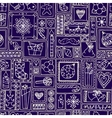 Blue seamless Christmas and New Year pattern vector image vector image