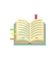 Book With Post It Stickers As Bookmarks vector image