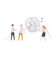 business team searching for ways to success symbol vector image vector image
