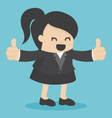 business woman show thumbs vector image vector image