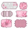 cherry blossoms design elements labels vector image
