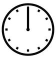 Clock 12 vector image vector image