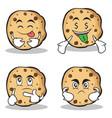 collection of sweet cookies character cartoon set vector image vector image
