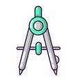 compasses school icon cartoon style vector image vector image