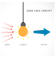 Creative light bulb concept design for poster vector image vector image