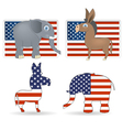 democrat and republican symbols vector image vector image