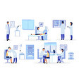 doctors general practitioners therapists flat set vector image vector image