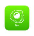 egg icon green vector image
