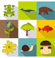Environment icons set flat style vector image vector image