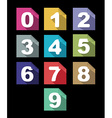 flat paper numbers set with long shadows vector image vector image